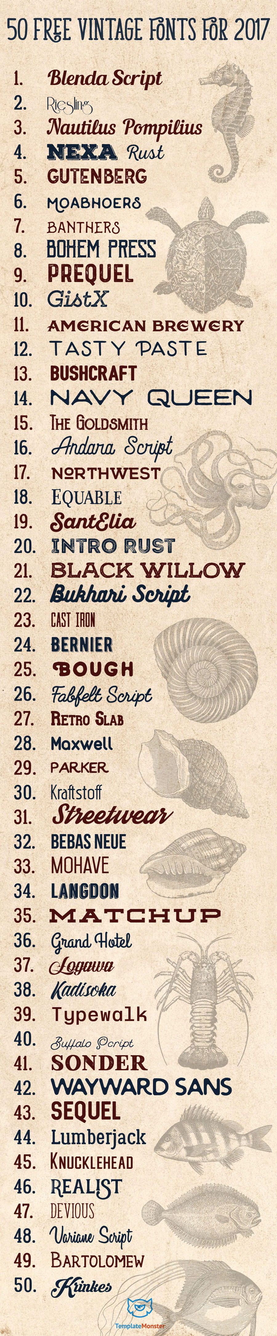#Vintage #fonts that you can use instead of the nasty #Lobster