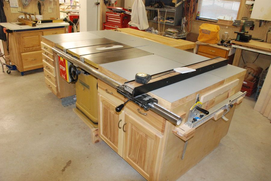 Table Saw Cabinets By Denniemac Woodworking Community Proyectos Que