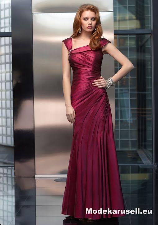 Luxus Mode Abendmode Abendkleid Weinrot www.modekarusell ...