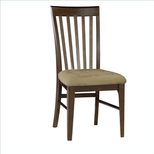 Atlantic Furniture Montreal Cappuccino Fabric Side Chair