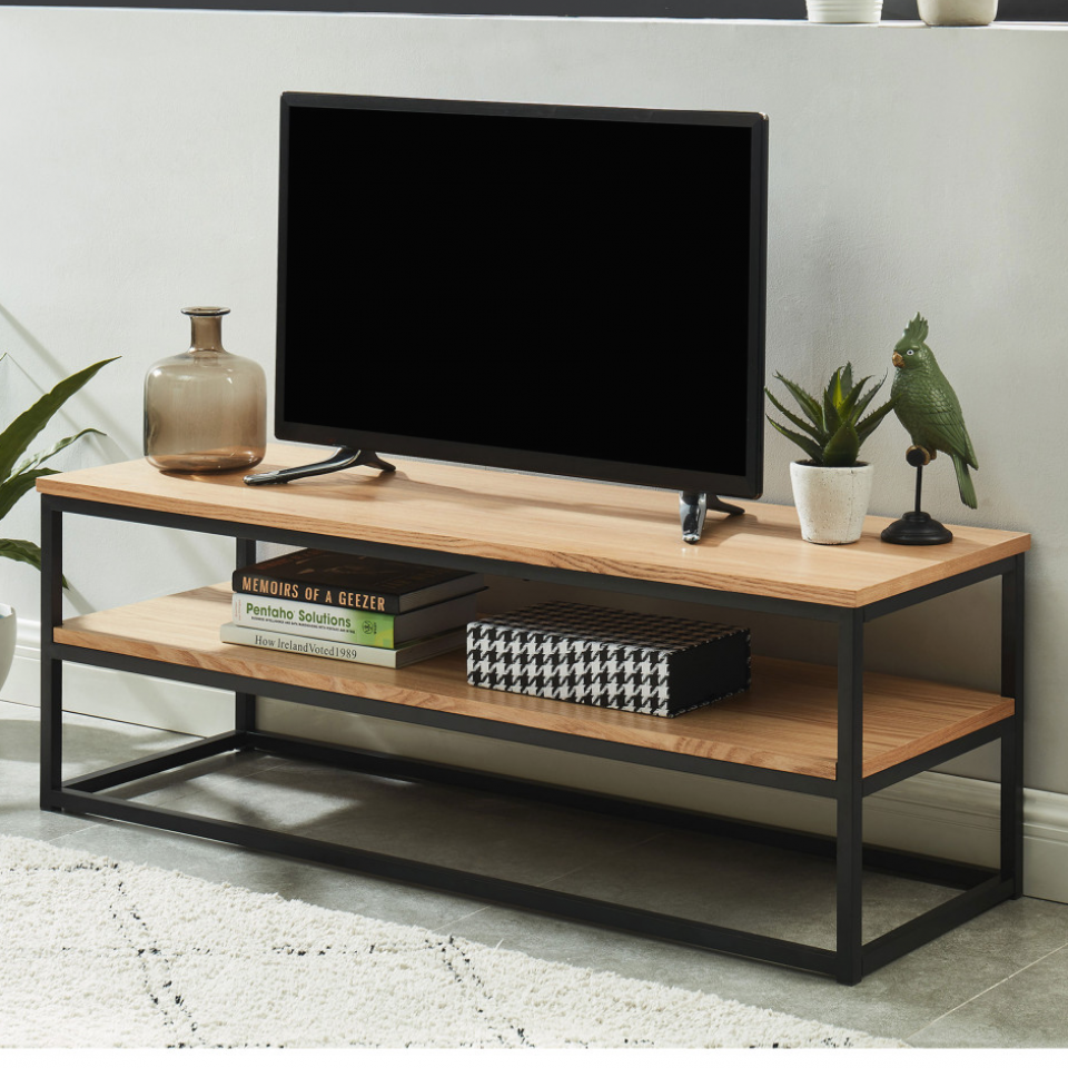 Ivica Meuble Tv Industriel En Bois Et En M Tal Drawer Table Officetable Studytable Sidetable In 2020 Living Room Tv Stand Living Room Table Home