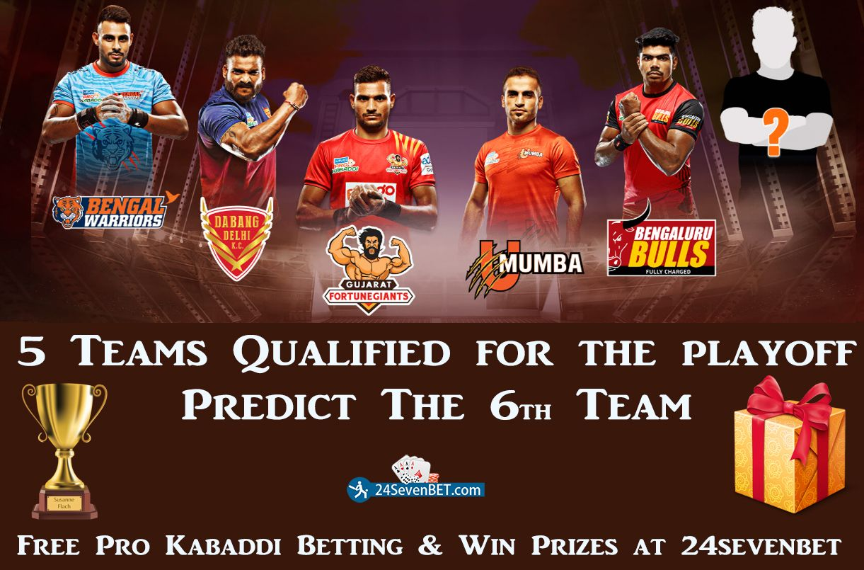 5 Teams are Qualified for the ProKabaddi Playoff. Predict