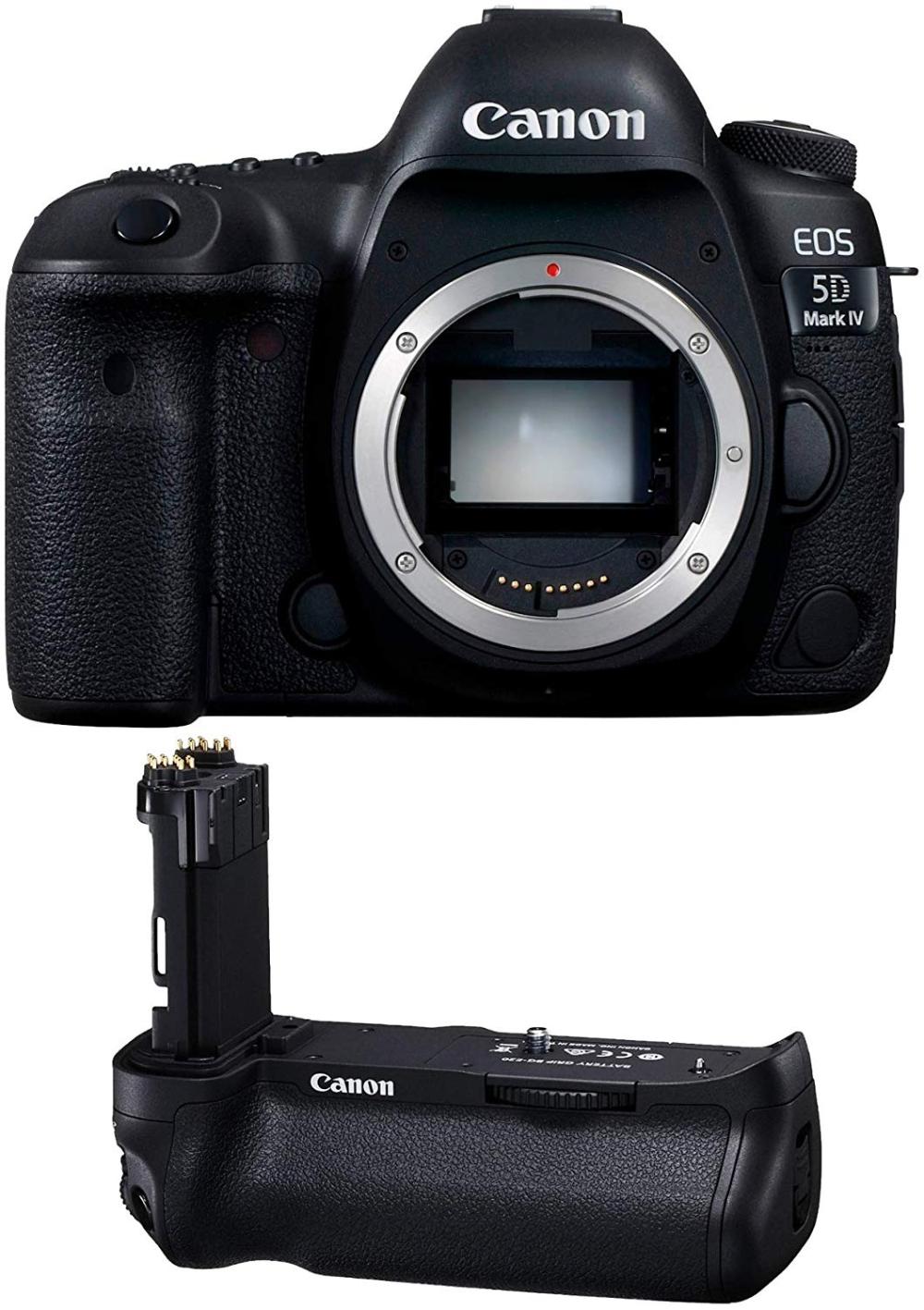 Amazon Com Canon Eos 5d Mark Iv Dslr Body Bg E20 Battery Grip Camera Photo Dslr Best Camera Camera