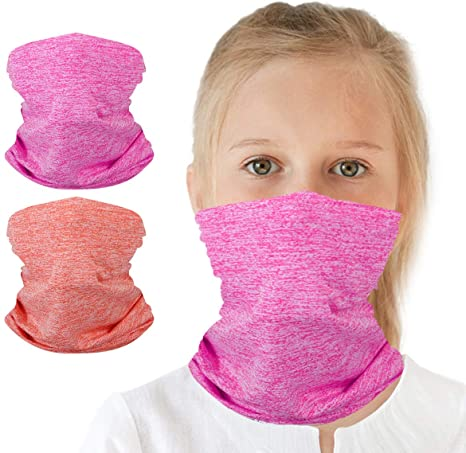 Neck Gaiters Clothing, Shoes & Jewelry Kids Neck Gaiters Balaclava Bandanas  Face Covering for Children Summer Neck Gaiter