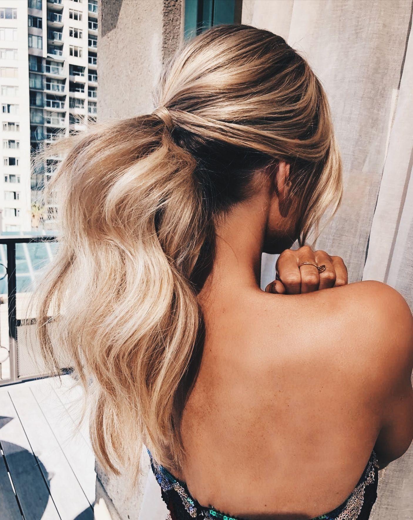 elegant curled ponytail. | hair | hairdo for long hair, long