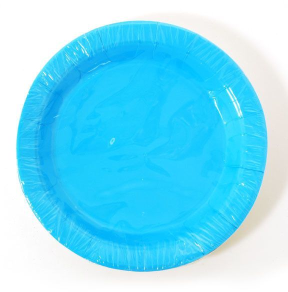 aqua dinner plate (8 count) Case of 36
