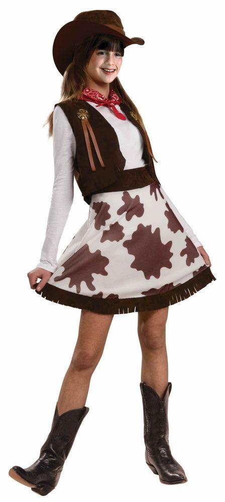 Rodeo Cutie Girls Child Western Cowgirl Halloween Costume