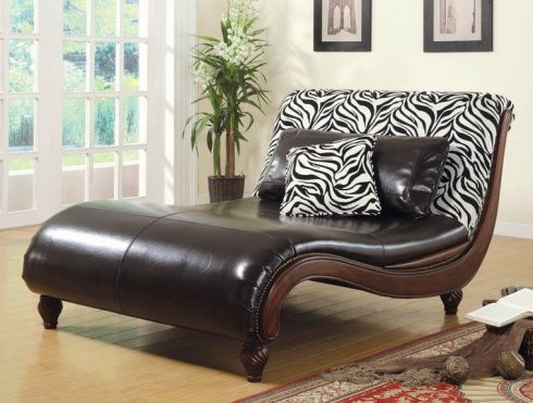 zebra leather chaise lounge