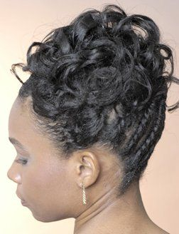 flat twist curly updo usmc relaxed