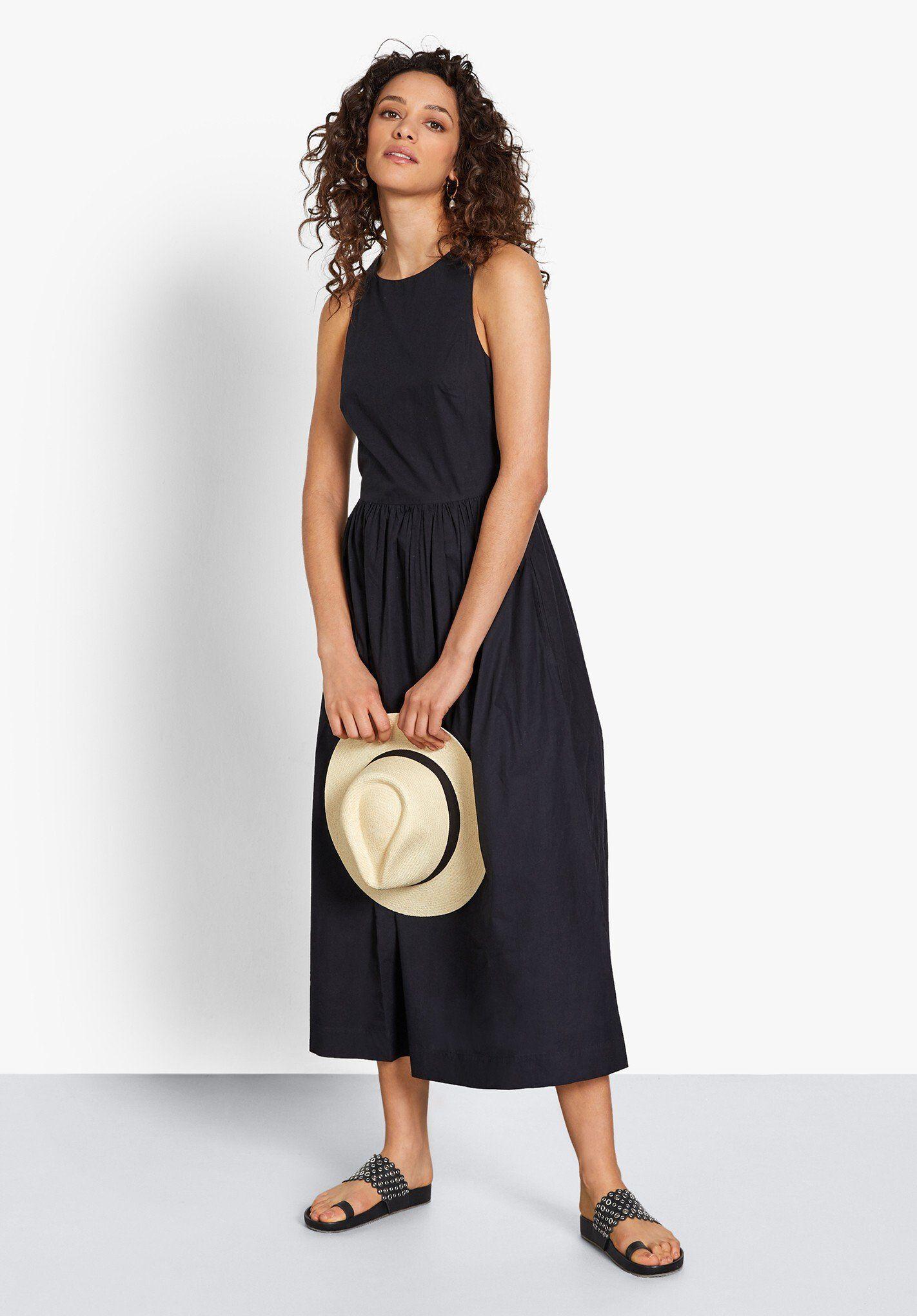 Rafi Cotton Midi Dress Cross Back Poplin Dress Hush Cotton Midi Dress Midi Dress Fashion [ 2040 x 1422 Pixel ]