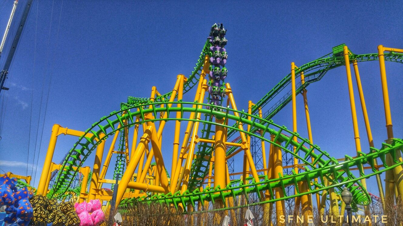 Riddler Revenge At Six Flags New England With Images Six
