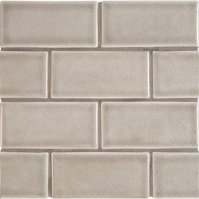 Leila 4 X 12 Ceramic Subway Tile In Grey Dove And Tiles