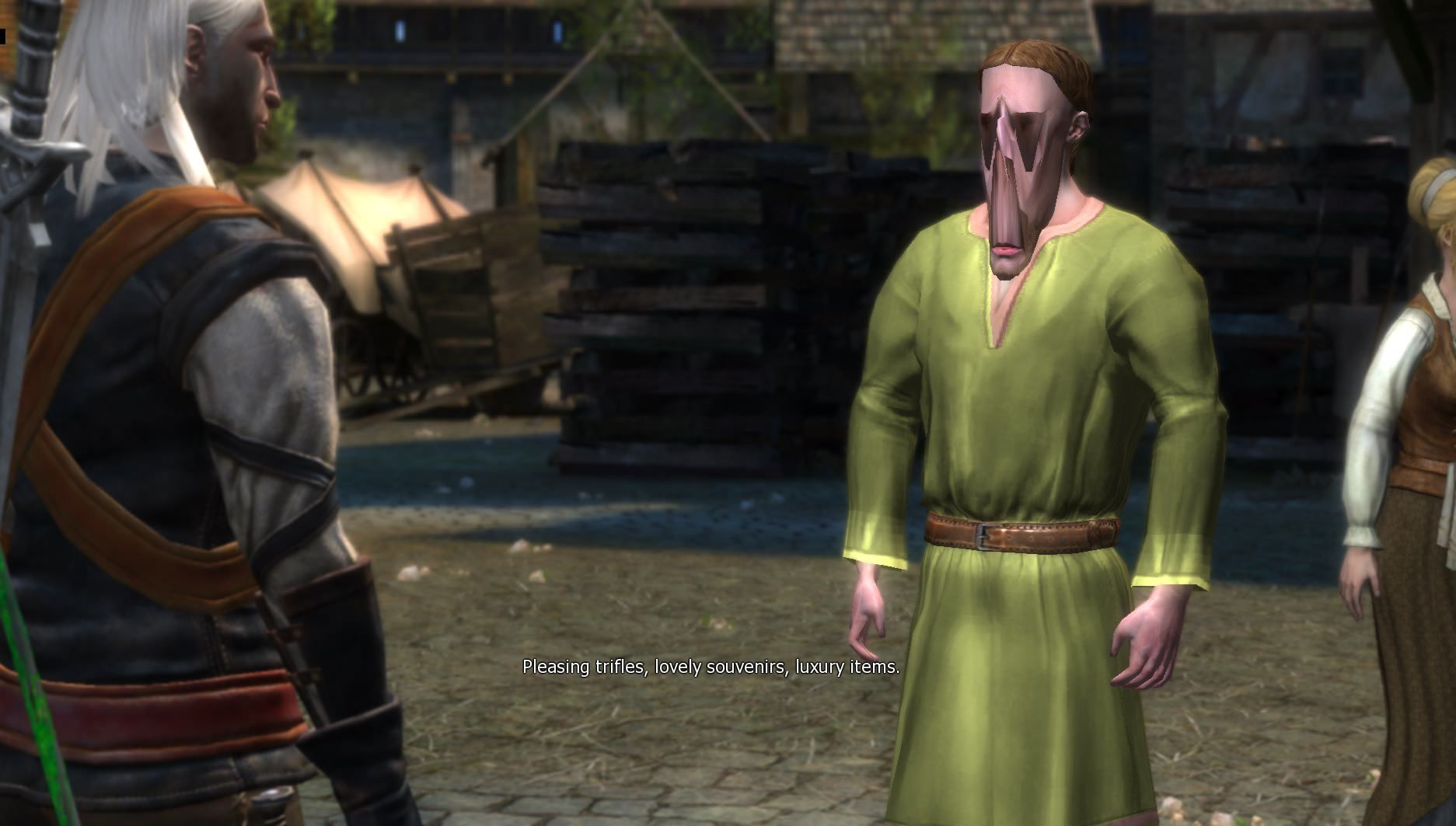 This merchant has been taking too much Fisstech [Witcher