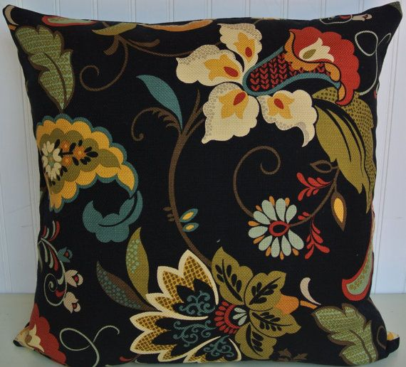 Gold Green Red Decorative Pillow Cover by CodyandCooperDesigns