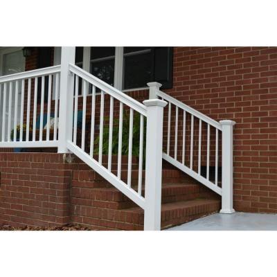 Best Veranda Enclave 6 Ft X 3 Ft White Capped Composite Stair 640 x 480