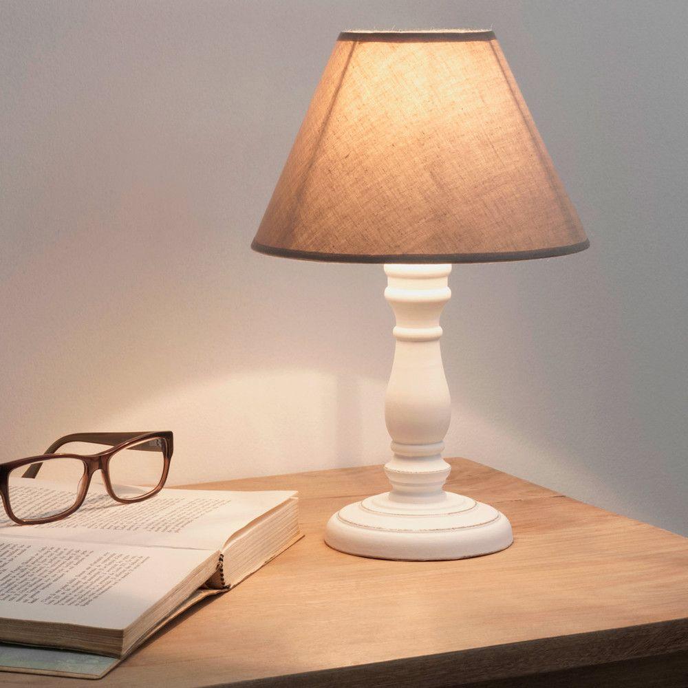 Bedlamp met beige stoffen  Meubels  Pinterest  Bedside