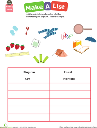 change from singular to plural exercises pdf