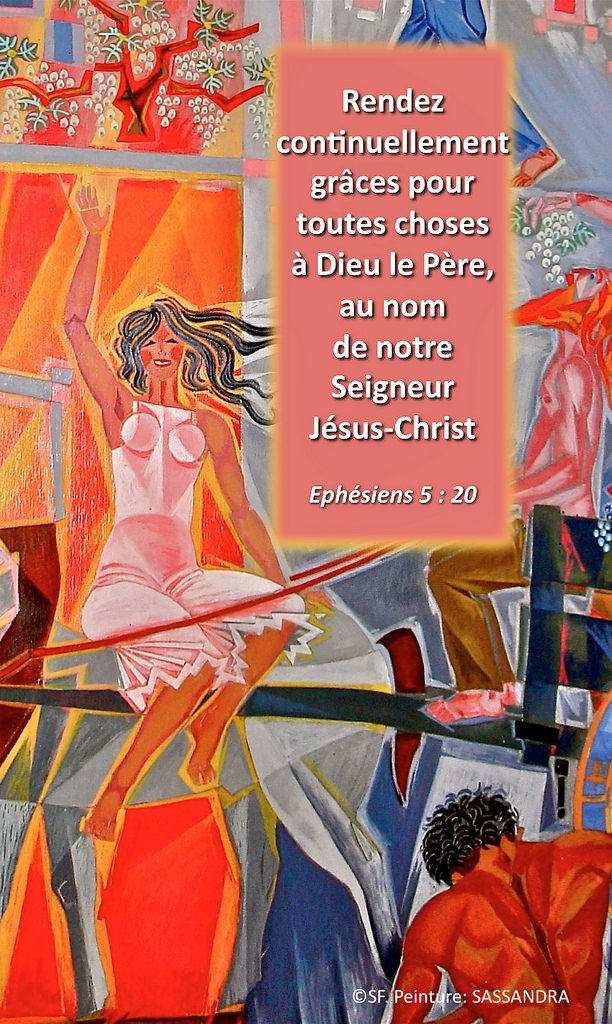 https://flic.kr/p/zN9jmX | Ephésiens 5 : 20 | Ebenezer Halleluiah creation Jacques-Richard Sassandra painting, Vaux-sur-Seine Evangelical Faculty, France 01/14/2015