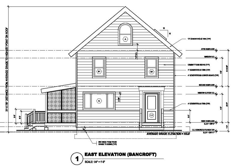 Building Front Elevation Drawings : Drawing house elevations architectural designs