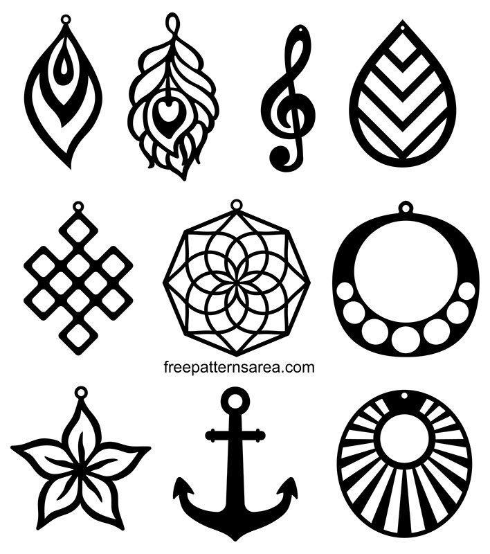 Faux Leather svg dxf files jewelry making cricut pattern Valentine Earrings svg Love earrings svg laser cut earring files