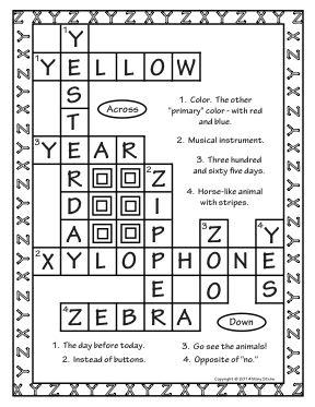 Crossword Puzzles A-Z Fun Dictionary Skill Builder