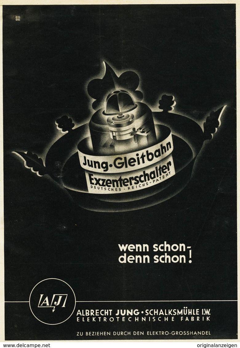 Original Werbung Anzeige 1938 1 1 Seite Jung Gleitbahn