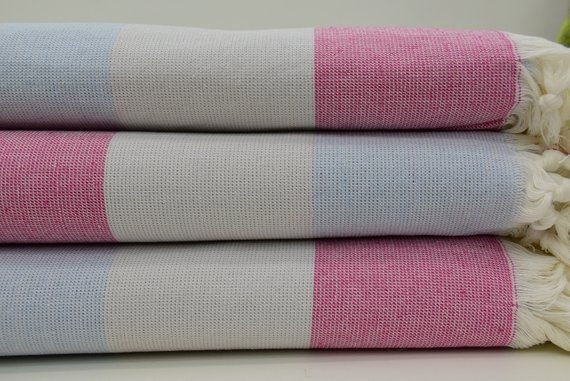 Gray Baby Blue Fuschia Towel Soft Towel Turkish Terry Towel 40x70 Bath Towel Beach Towel Colorful To Soft Towels Blue Towels Beach Towel