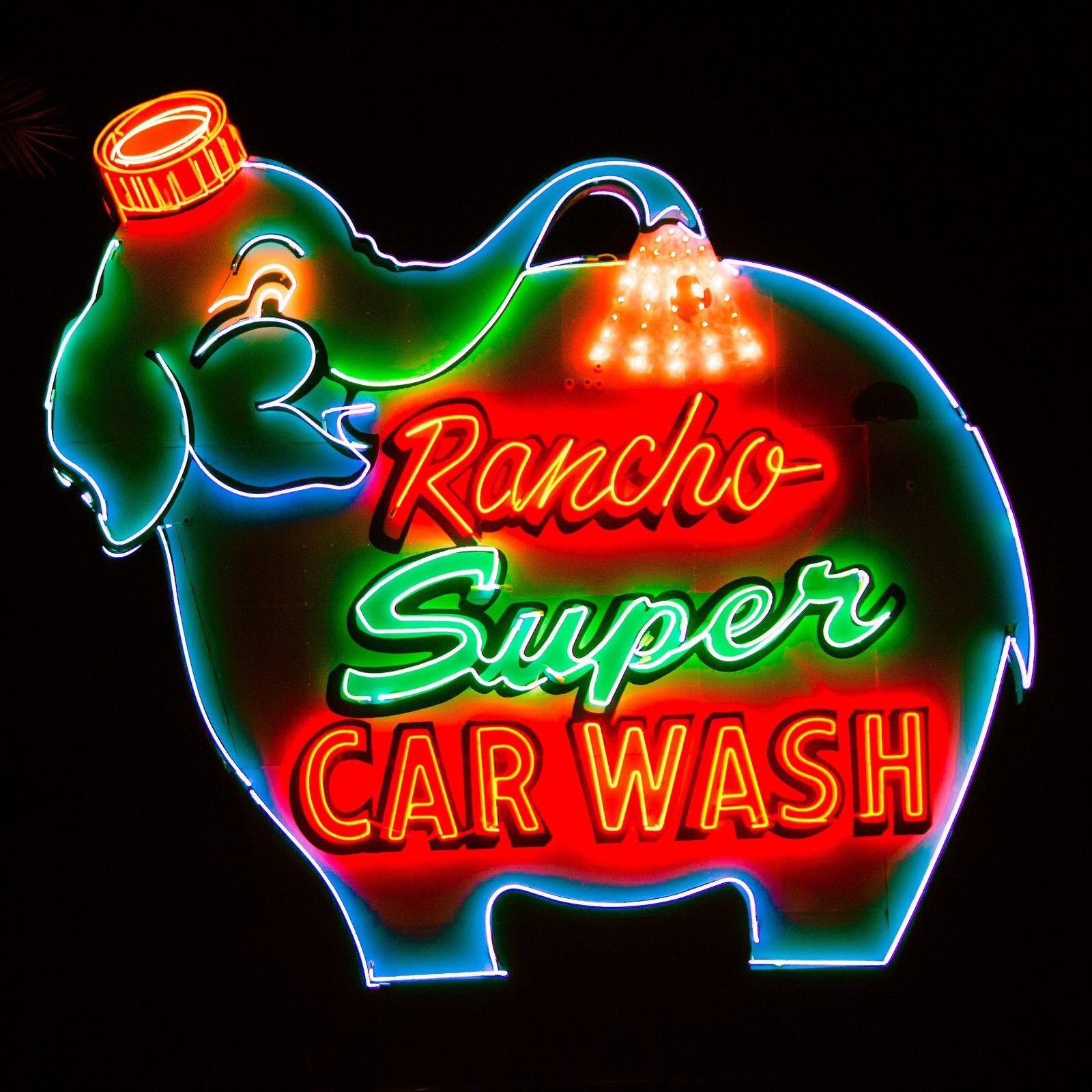 Rancho Super Car Wash in 2020 Vintage neon signs, Neon