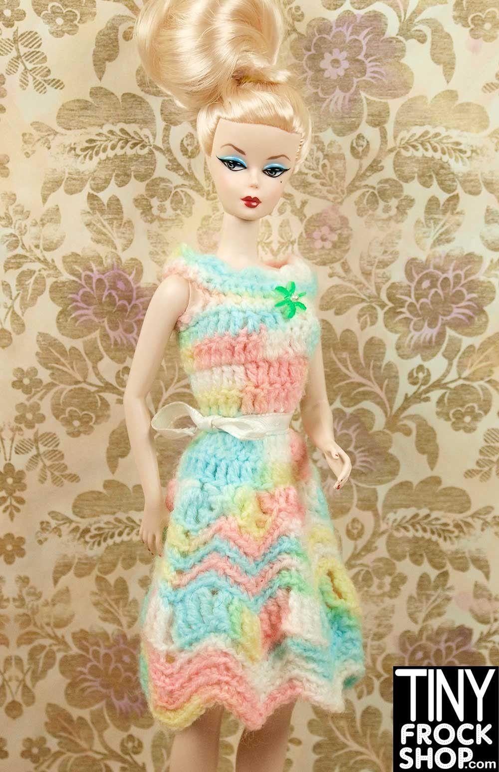 Barbie Rainbow Pastel Crochet Dress