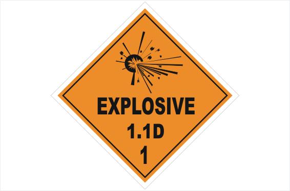 Danger Explosives  sticker