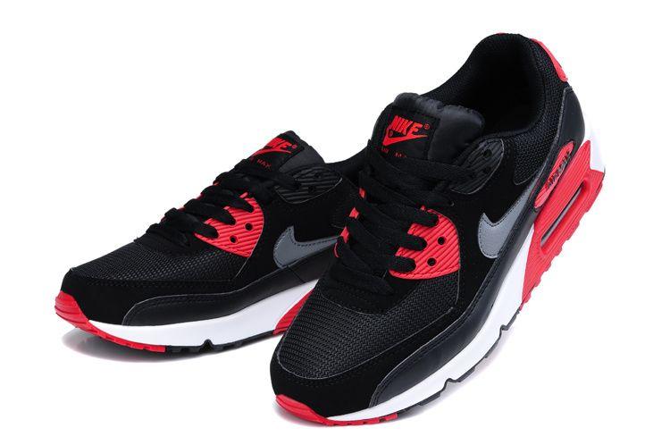 nike air max 90 essential black sport red
