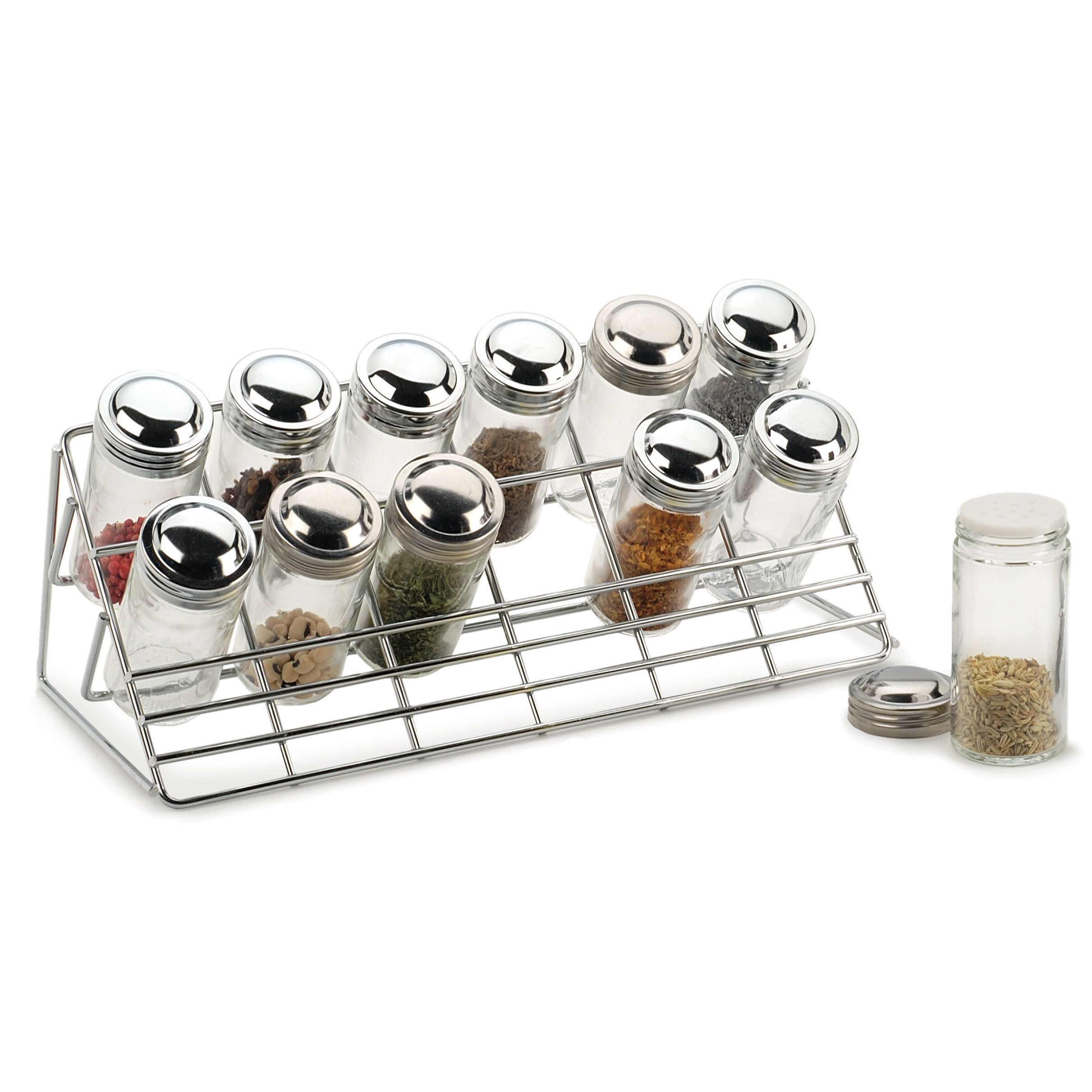 RSVP-INTL 13 Piece Countertop Spice Rack Set