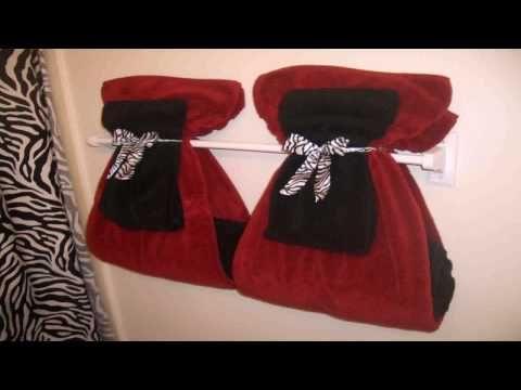 Fold And Design Towels Like A Hotel How To Renee Romeo Youtube Bathroom Towel Decor Bathroom Red Hang Towels In Bathroom