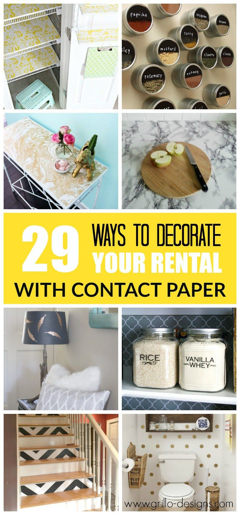 29 ways to decorate your rental with contact paper | contact paper