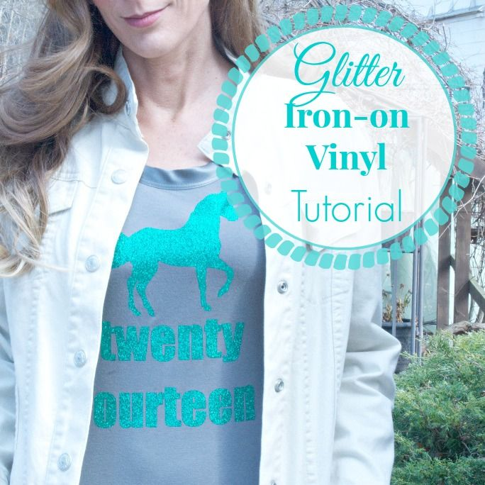 DIY Show Off Iron Tutorials And Glitter Vinyl - How to make vinyl decals with silhouette