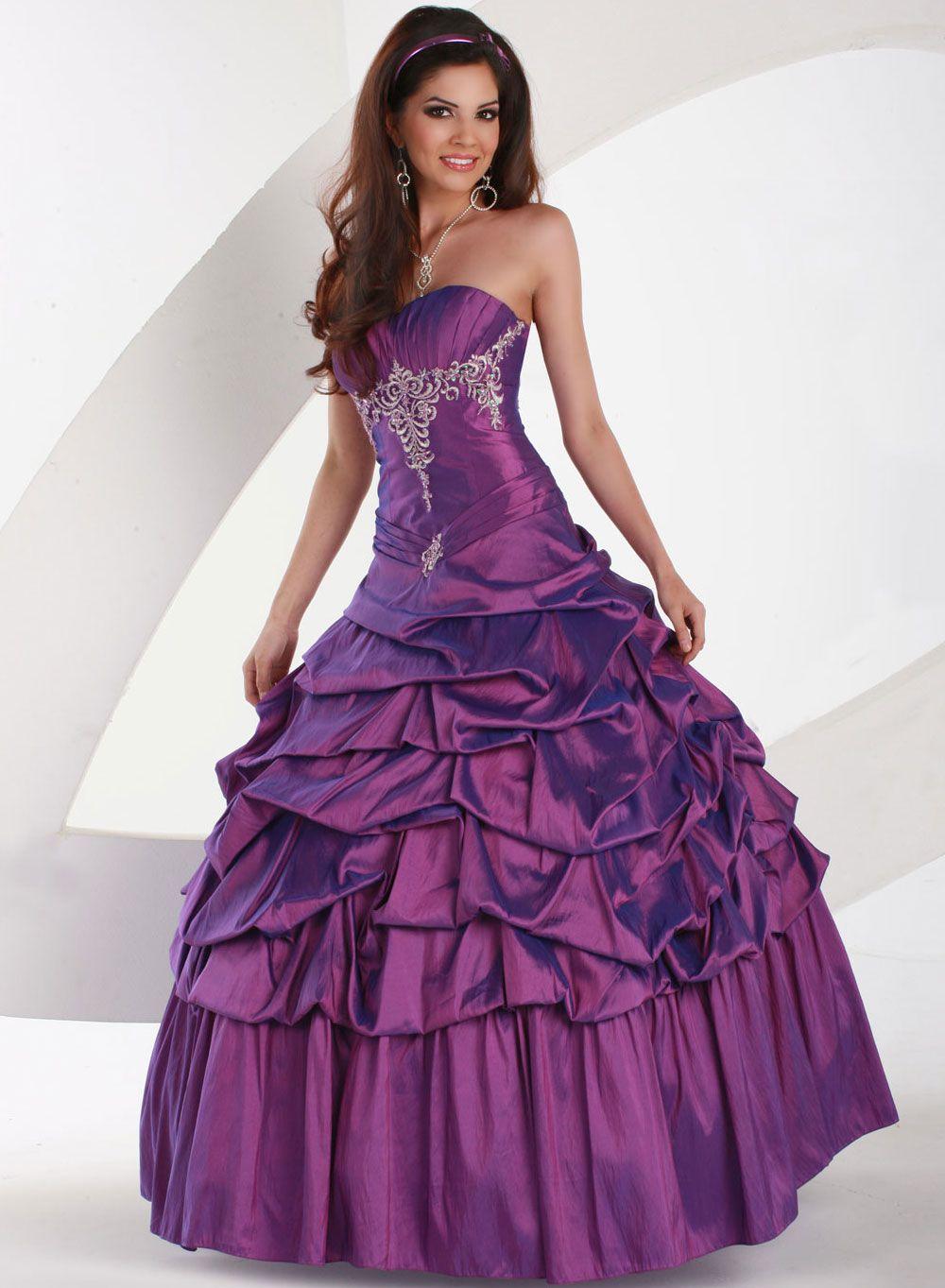 Vestidos de 15 color morado. | 15 anos | Pinterest