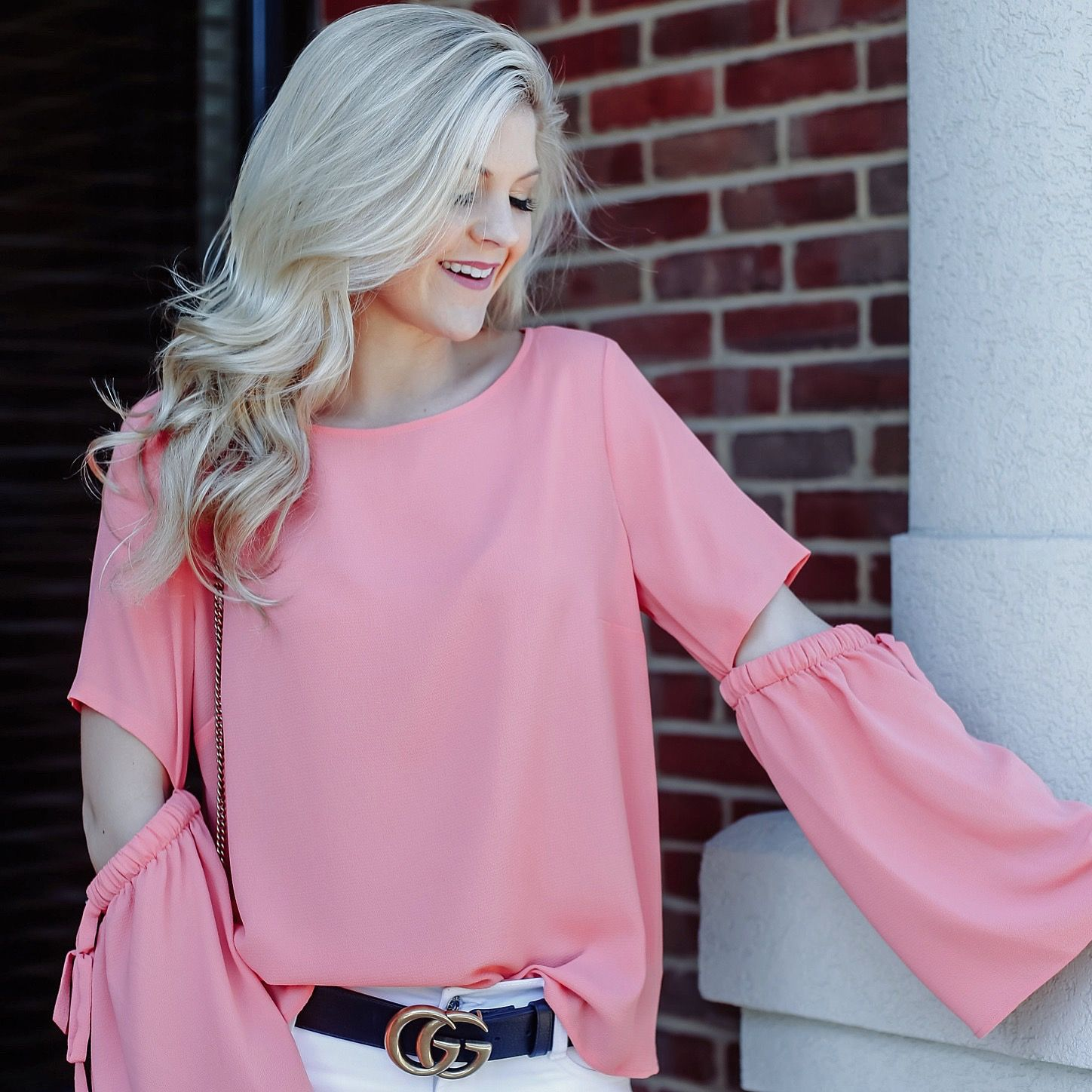 one of my favorite tops of all time!!  those sleeve details are perfect!! #springstyle #ootd #wiw #bloggerstyle #gucci