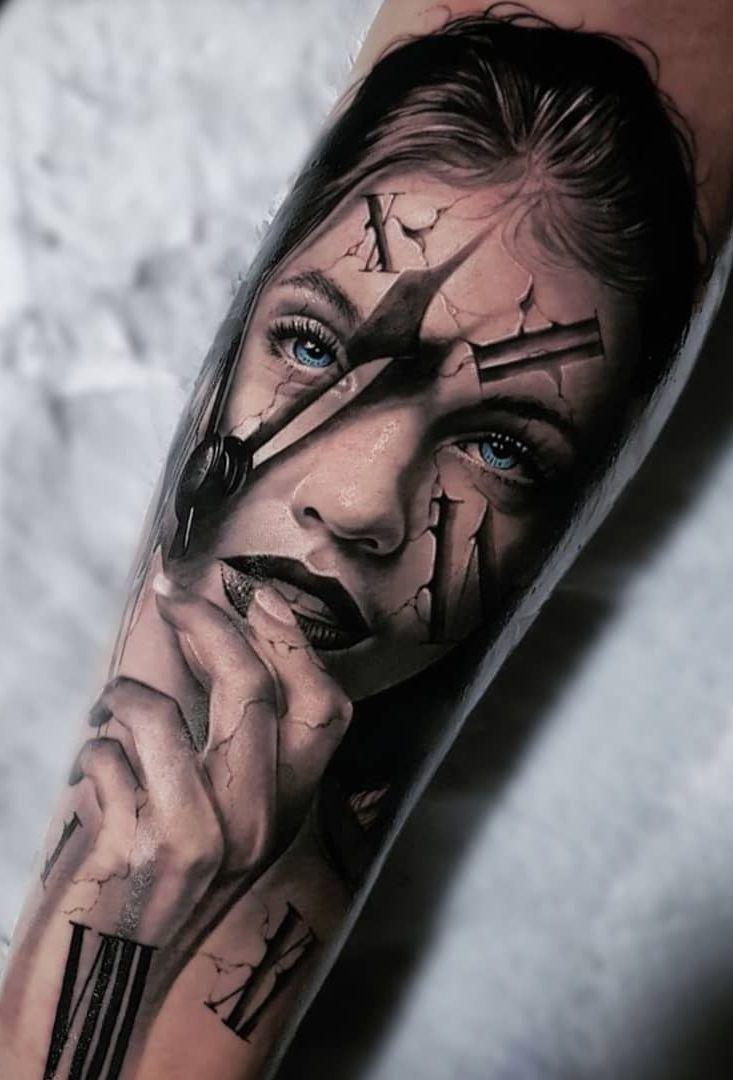Realistic Tattoos With Morphing Effects By Benji Roketlauncha Dovme Tattoo Dovme Fikirleri