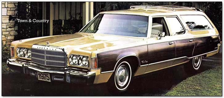 The 1974 1975 Chrysler Town And Country Wagon This Is A Tie For