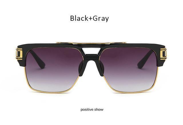 e15d6a85dad Luxury Designer Sunglasses. Vintage Men Sunglasses Luxury Brand Designer  Male Flat Top Big Square Frame Mirror Sun Glasses Women