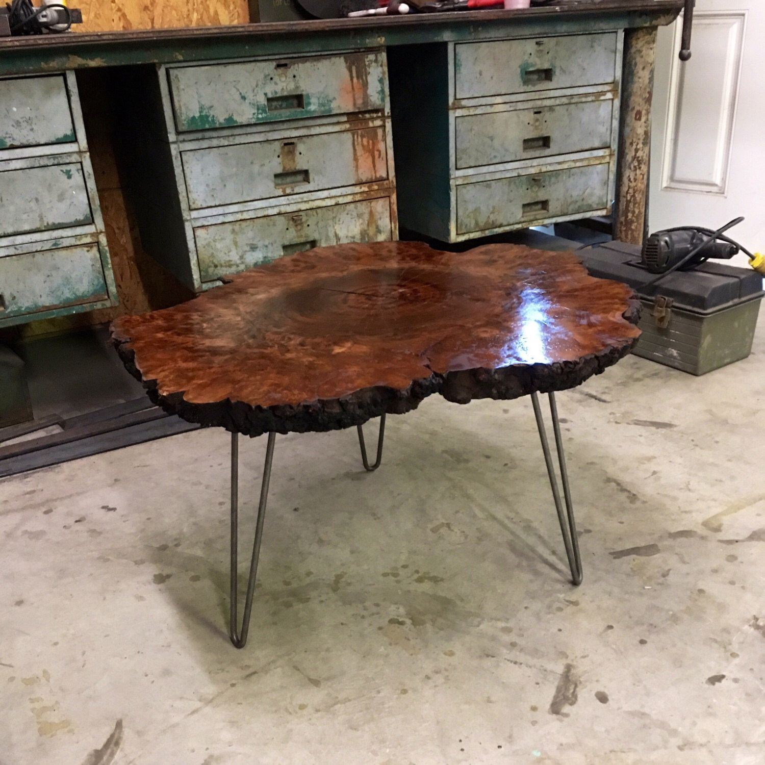 YOUR Custom Listing Gorgeous Live Edge Burl Coffee Table by