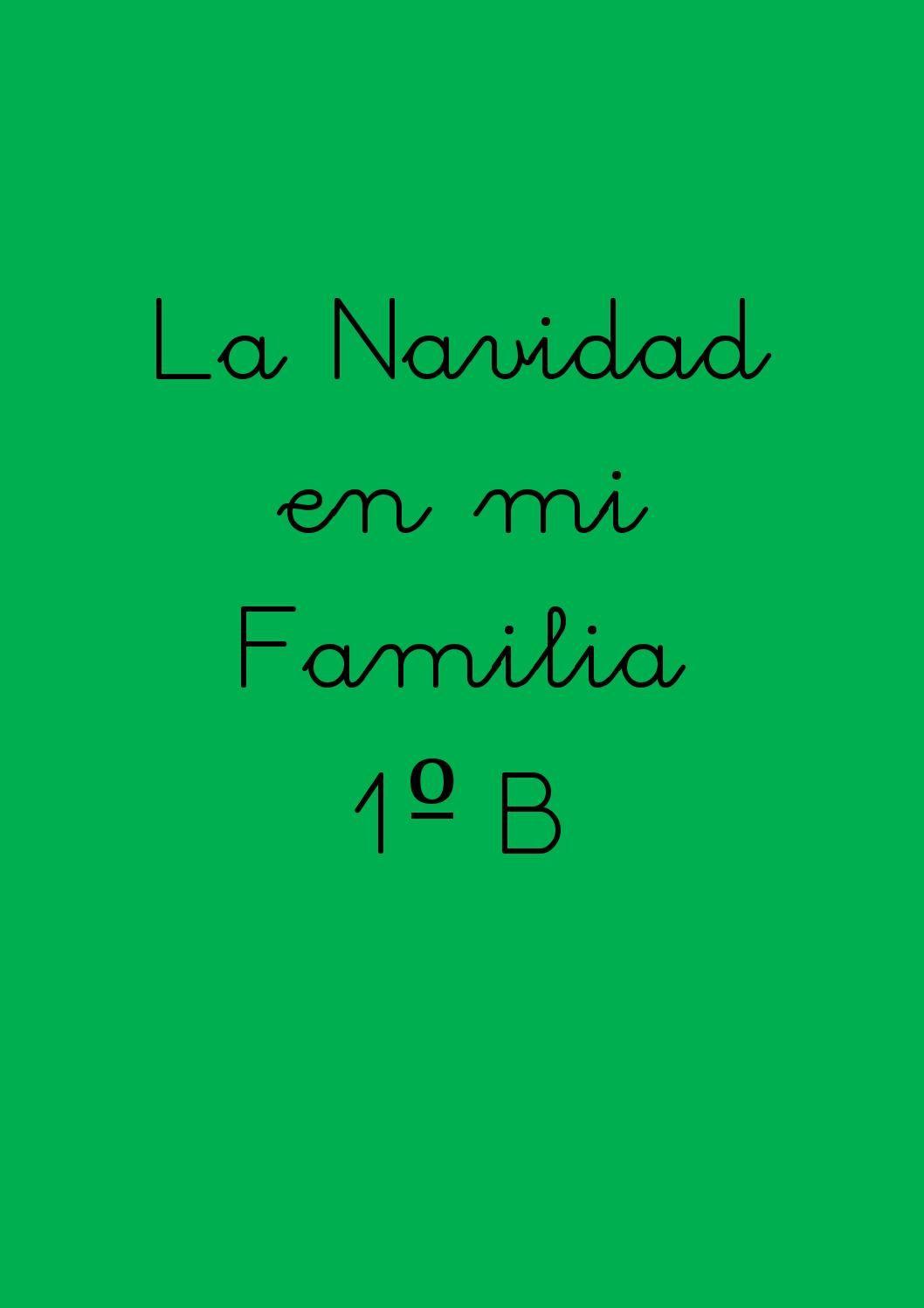 Navidad en familia 1b  ACTIVIDAD SUMATIVA UNIDAD DE INDAGACIÓN 2