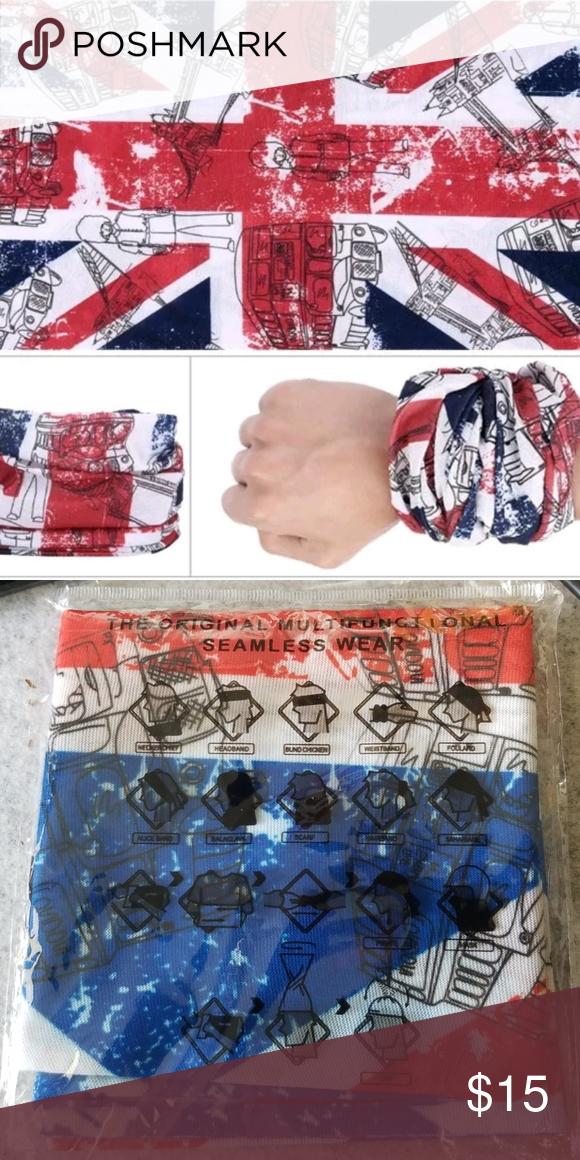 UK Union Jack Flag Multifunctional Seamless Wear Magic headband   Versatile  Sport Headwear for Men and 5e8642b1daf8