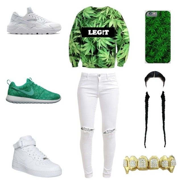 """""""smokin"""" by aleisharodriguez ❤ liked on Polyvore featuring FiveUnits and NIKE"""