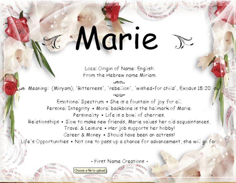 Name Marie Bedeutung