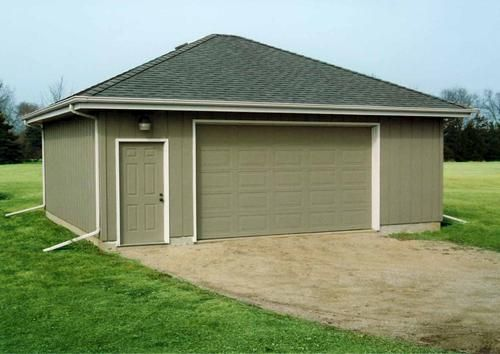 22 X 28 X 8 Garage With Hip Roof At Menards Roof Architecture Hip Roof Patio Roof