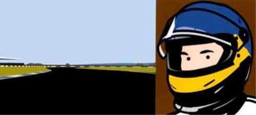 "Julian Opie - ""Imagine you are driving (fast)"" | myartmap"