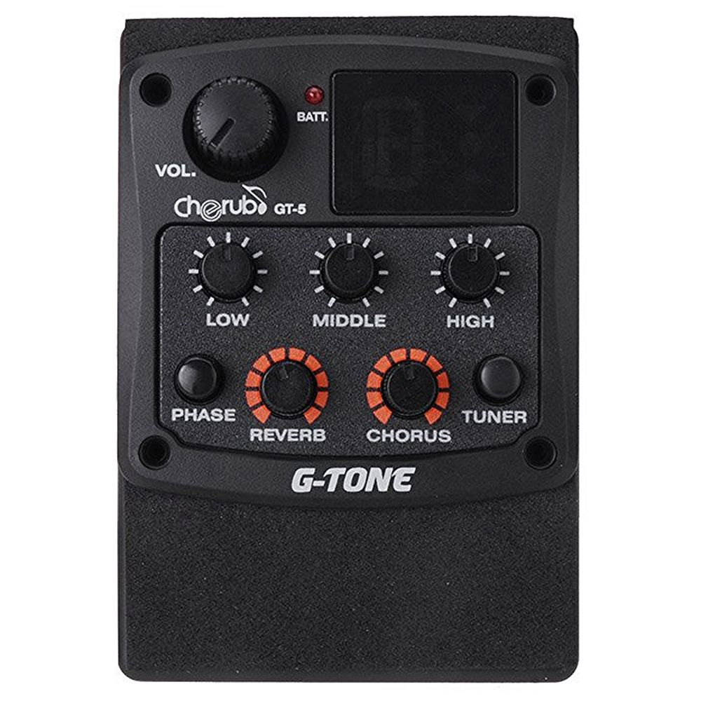 Andoer Cherub G Tone Gt 5 Acoustic Guitar Preamp Piezo Pickup 3 Band Eq Equalizer Lcd Tuner With Reverb Chorus Effect Tuner Musical Instruments Acoustic Guitar
