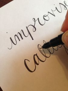 Improvised Calligraphy tutorial! Great cheat for beautiful letters and script without a proper pen set.