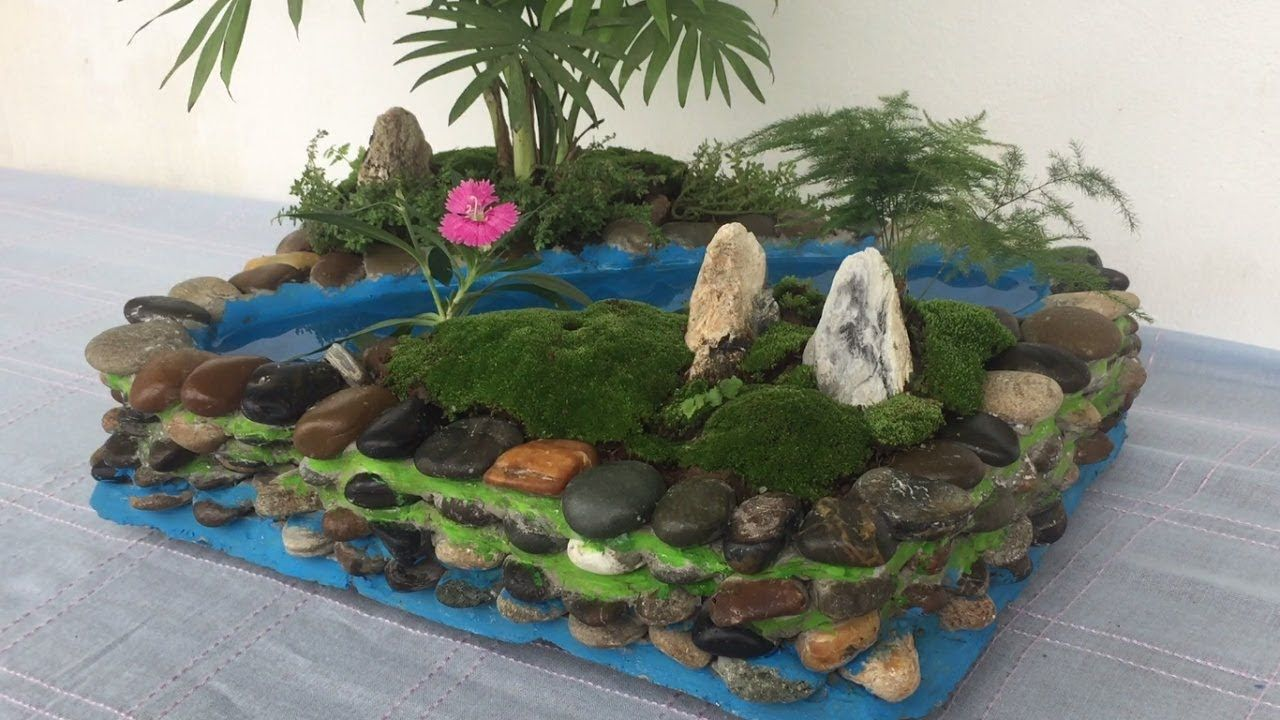 Diy Miniature Landscape Attractive From Stone And Cement Garden Des